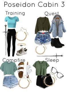 Poseidon Cabin 3 girls Poseidon Cabin 3 girlsYou can find Fandom outfits and more on our website. Percy Jackson Outfits, Percy Jackson Characters, Percy Jackson Memes, Percy Jackson Fandom, Percy Jackson Art, Percy Jackson Clothes, Outfit Essentials, Percy Jackson Cabins, Fandom Fashion