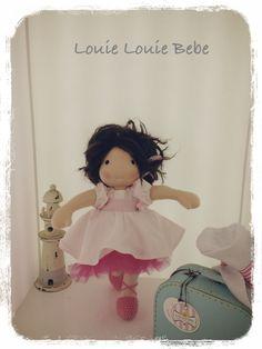 A custom waldorf doll by Louie Louie bebe