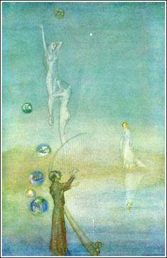 Willy Pogany ~ from Part V, The Pilgrim ~ TannhäuserbyRichard Wagner ~ Brentanos ~ 1911 ~ via Golden Age Comic Book Stories