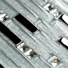 crystal backsplash | Interlocking Mosaic Tile Backsplash Diamond Crystal Glass Tiles ...some days I like sparkle