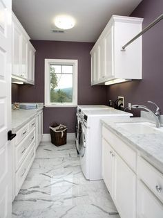 Purple Wall Paint Colors Los Altos Traditional Laundry Room - san francisco - by Precision Cabinets