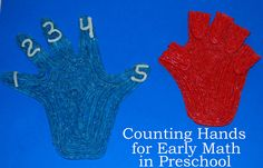 Counting Hands Craft for Early Math in Preschool!