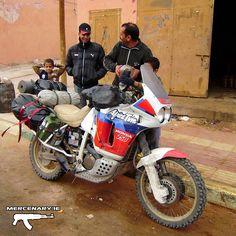 Honda XRV 750 Africa Twin RD04 1990 Moroccan Sahara Desert  Refueling