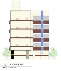 PROJETO DE PRÉDIO COM 4 PAVIMENTOS + PILOTIS - Desenho Arquitetônico II (3°…