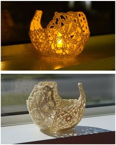 Crochet Votive, beautiful for both night and day!