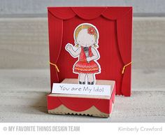 Handmade 3-D card from Kimberly Crawford featuring the PI Perfect Harmony stamp set and Die-namics and the Take the Stage Die-namics #mftstamps
