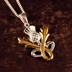 Our Scottish thistle love knot necklace is brilliant. The Triquetra knot or the… I Love Jewelry, Modern Jewelry, Jewelry Shop, Jewelry Accessories, Fashion Jewelry, Women's Fashion, Celtic Love Knot, Celtic Heart, Scottish Thistle