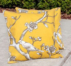 Set of 2-- Branches of Birds 16x16 inch pillow covers $23.95