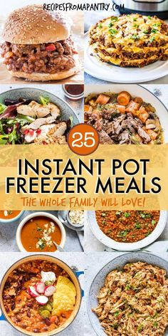 Ready to make your meal prep even easier? Each and every one of these 25 Instant Pot Freezer Meals (plus a bonus freezable dessert!) is packed with flavour. And thanks to the wonder that is the Instant Pot, each one is quick and easy to make, and even ea Budget Freezer Meals, Healthy Freezer Meals, Dump Meals, Cooking On A Budget, Healthy Recipes, Freezer Meal Recipes, Make Ahead Meals, Freezer Cooking, Best Meals To Freeze
