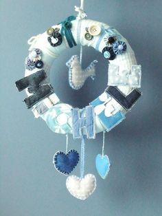 la.daridari: Fiocco Nascita – Birth Wreath