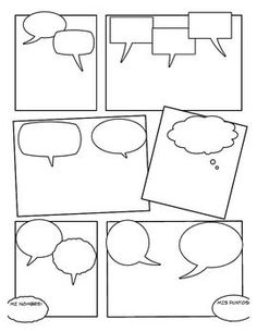 Could use for students to create comic strip to demonstrate … Blank Comic Strip. Could use for students to create comic strip to demonstrate understanding of interjections Teaching Writing, Writing Activities, Teaching Tools, Teaching English, Teaching Resources, Comic Strip Template, Comic Strips, Cartoon Template, English Language Arts