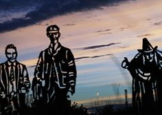 This striking photograph of the statues on the Padiham Greenway was sent in by Mick Hughes.