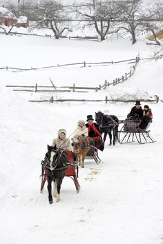 Winter: Entries into the Old Sturbridge Village Antique Sleigh Rally. I Love Winter, Winter Fun, Winter Snow, Winter Christmas, Country Christmas, Winter White, Snow White, Sturbridge Village, Dashing Through The Snow