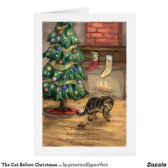 The Cat Before Christmas Christmas Card: Practically Purrfect