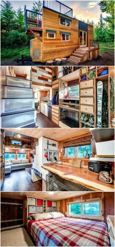 Engineering Couple Plus Their Three Dogs Live in 200 Square Foot Tiny House - Tine and Luke Orlando are a couple of engineers out of Oregon who have three dogs that they do life with and it just so happens that their way of life is in a 200 square foot tiny house on wheels that they had custom designed just for their needs. The home took over 18 months to perfect since it had a long list to fulfill including being off-grid, storage needs, and pet-friendly capabilities. They called the end…