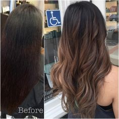 Rich Latte ☕️☕️☕️ Color correction: Box color covering an old ombre removed. #brunette #Asian #asianhair
