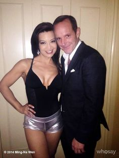 Post with 16658 views. Ming-Na Wen with Clark Gregg Iain De Caestecker, Chloe Bennet, Melinda May, Ming Na Wen, Clark Gregg, Beautiful Female Celebrities, Marvels Agents Of Shield, Barbarella, Phil Coulson