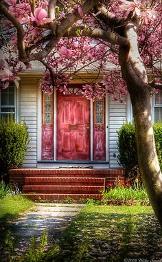 Pink by Mike Savad - LOVE the weathered, coral door