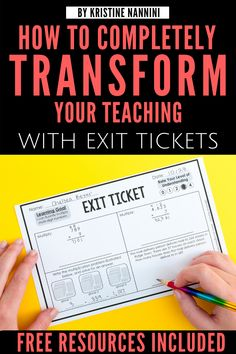 How Completely Transform Your Teaching with Exit Tickets - Young Teacher Love by Kristine Nannini - Tap the link to shop on our official online store! You can also join our affiliate and/or rewards programs for FREE! Teaching Strategies, Teaching Tips, Teaching Math, Maths, Teaching 6th Grade, Teaching History, Science Classroom, School Classroom, Classroom Door