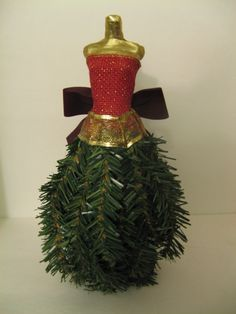 Dress Form Christmas Tree | Make a miniature dress form Christmas tree using recycled materials ...