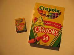 How to make your own american girl doll sized crayola crayon box for back to schoo.