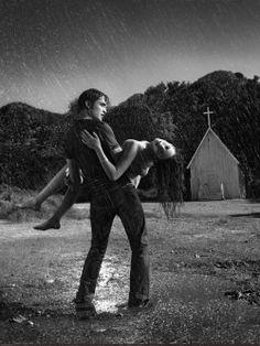 Robert Pattinson and Kristen Stewart by Jeff Riedel