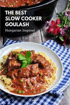 Slow Cooker Goulash Recipes, Best Slow Cooker, Crockpot Recipes, Healthy Recipes, Lamb Recipes, Sweets Recipes, Healthy Food, Slow Cooker Breakfast, Slow Cooked Beef