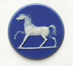 Jasper button medallion featuring a study of a horse, photography m.coupe, © wedgwood museum 1790