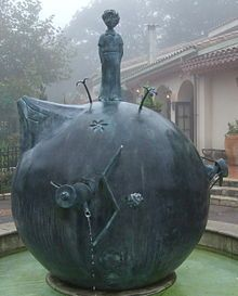A tribute to The Little Prince atop Asteroid B-612, at the Museum of The Little Prince, Hakone, Japan.