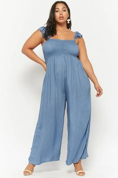 Plus Size Boho Me Smocked Jumpsuit   Forever21