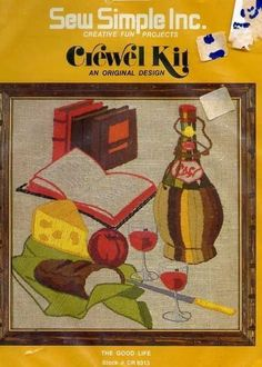 Sew Simple The #GoodLife #Crewel #Embroidery #Kit #Yarn & Stamped #Fabric NEW #SewSimple
