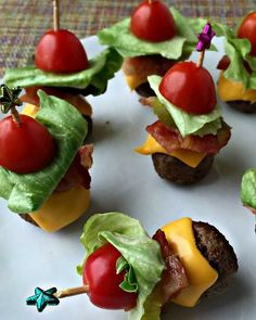 Bacon Cheeseburger Meatballs - You won't even miss the nutrient-void bun with these bacon cheeseburger meatballs. Whether you pair them with a salad or grilled veggies, serve them as an app, or just use them to put the thrill back into dinner, we promise that your taste buds won't be disappointed. Just make sure to opt for grass-fed beef, which is naturally higher in protein and null of sketchy chemicals and hormones.