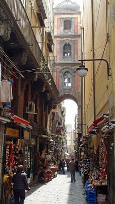 Naples, Italy....LOVE this lane, filled with little shops selling the most beautiful nativities.