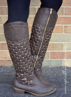 Quilted and Studded Rider, $65.00