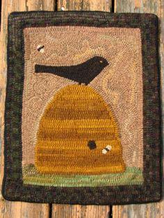 Nice hooked rug kit