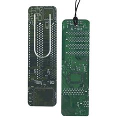 recycled computer board bookmark and bookclip