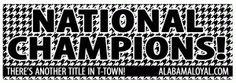 Get Free Alabama National Champions Sticker