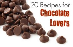Think you have to give up chocolate to lose weight? Think again! Satisfy your sweet tooth the sensible way with these 20 melt-in-your-mouth recipes.