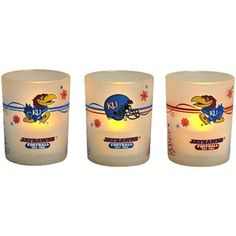 #Fanatics  Kansas Jayhawks Holiday 3-Pack LED Candle Set! Check out all of the Jayhawk Holiday decor here: http://pin.fanatics.com/COLLEGE_Kansas_Jayhawks_Accessories_Holiday_Items/source/pin-kansas-holiday-decor-sclmp