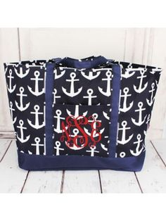 Whether planning a big group surprise or purchasing for your boutique, we have a large selection of wholesale purses and handbags to choose from. Wholesale Purses, Beach Weather, Southern Style, Large Tote, Anchors, Spring Break, Purses And Handbags, Navy And White, Preppy