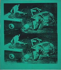 Andy Warhol. Death and Disaster series. Green Car Crush