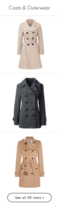 """""""Coats & Outerwear"""" by annakennedy70 ❤ liked on Polyvore featuring outerwear, coats, jackets, casaco, dresses, brown, beige trenchcoat, kate spade, brown trench coat and pink coat"""