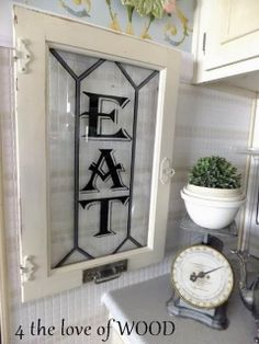 4 the love of wood: KITCHEN EAT SIGNS