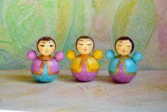 Dolls Roly-Poly Style // Nevalyashka Toy // Wooden Doll //