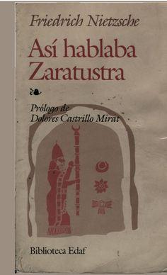 Asi hablaba Zaratustra [Friedrich Nietzsche]