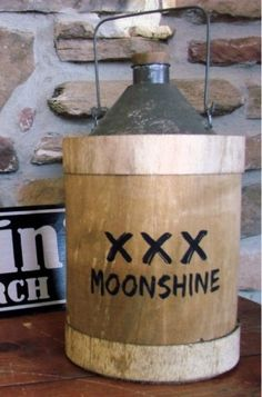 Moonshine | Jug | Bootleg | Whiskey | Prohibition | Vintage | Replica | Decor | A Simpler Time