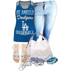 It's baseball season! Dodgers Outfit, Dodgers Gear, Football Outfits, Sports Mom, Sports Teams, Cool Outfits, Blue Outfits, Denim Outfits, Casual Outfits
