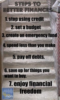 7 Steps to Better Finances | Life as MOM