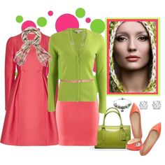 """""""Preppy Pink and Green"""" by girlyideas on Polyvore"""