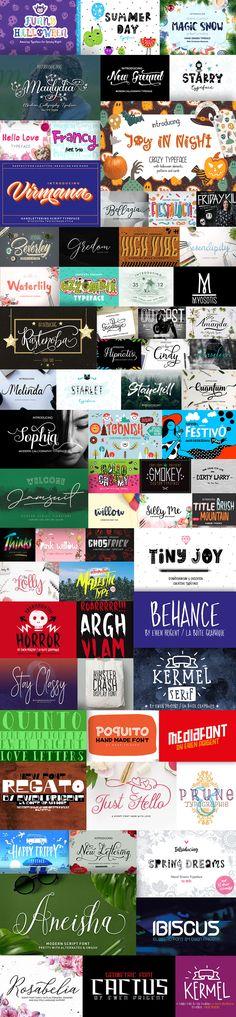 The Decorative Fonts Bundle: 121 Unique Fonts with Commercial License Magic Snow, Design Bundles, Your Design, Fonts, Commercial, Graphic Design, Day, Unique, Graphics
